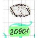 20901 застёжка никель
