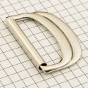 20905 застёжка-перетяжка 35 мм двойное полукольцо никель