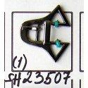 SH23507 застёжка тём.никель