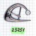 23751 пряжка тём.никель + кам