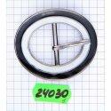 24030 пряжка никель + чёр лак