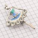 10895 ( YN00688 ) брошь (балерина) никель + камень